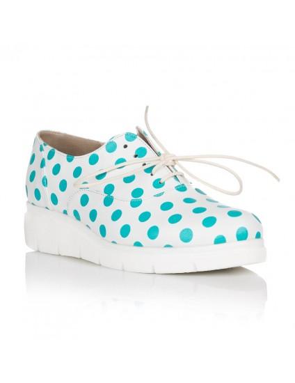 Pantofi Piele Buline Turcoaz Oxford C14 - orice culoare