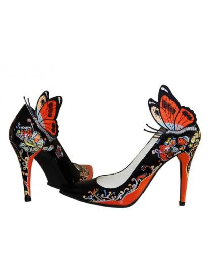 Pantofi pictati manual Butterfly - orice culoare