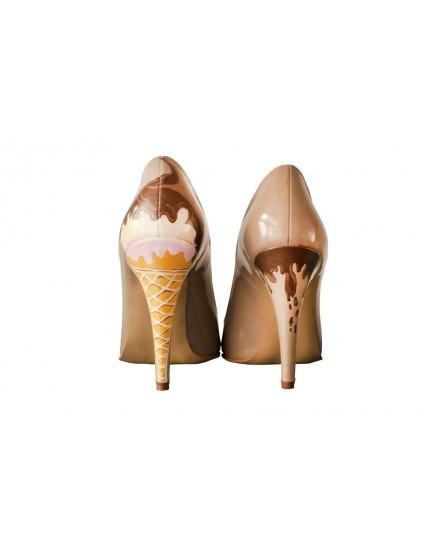 Pantofi pictati manual Cupcake - orice culoare