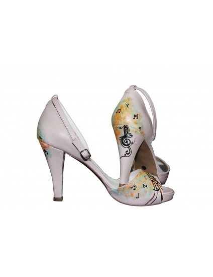 Pantofi Pictati P102 - orice culoare