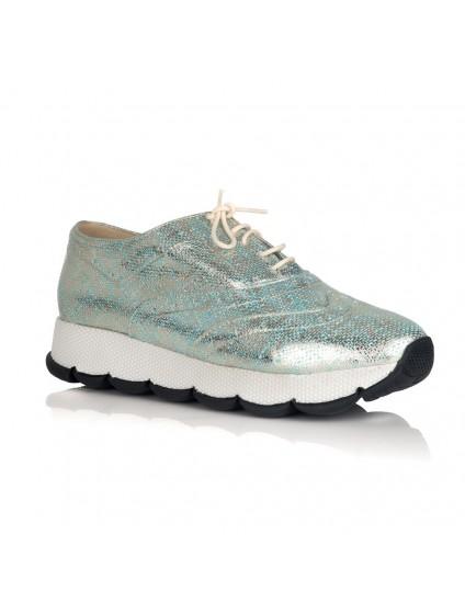 Pantofi Piele Argintiu Sport Fashion V22  - orice culoare