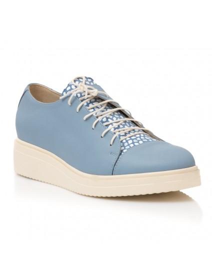 Pantofi Piele Bleu Oxford E1 - orice culoare