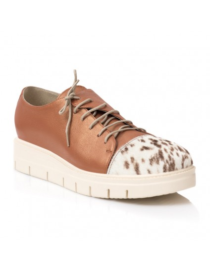 Pantofi Piele Oxford Caramiziu Ponei E1   - orice culoare