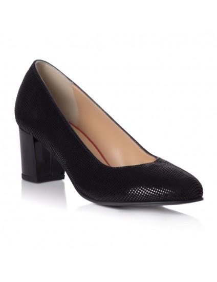 Pantoful Piele Specaial Negru Comod T21 - pe stoc