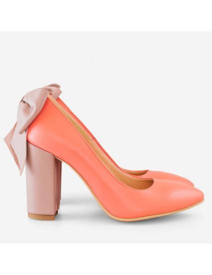Pantofi Dama Piele Corai Fundita D14 - orice culoare