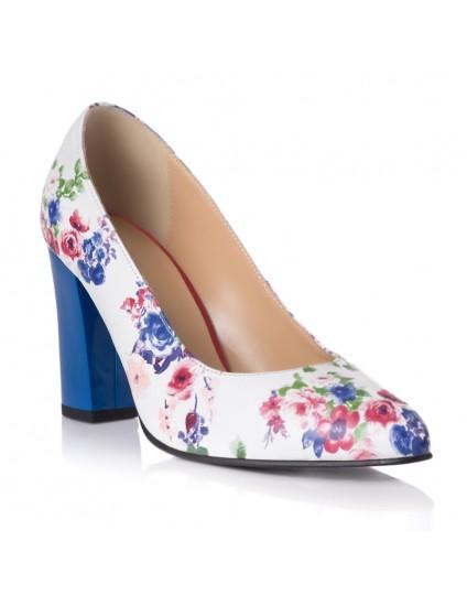 Pantofi Piele Floral Anne T2 - orice culoare
