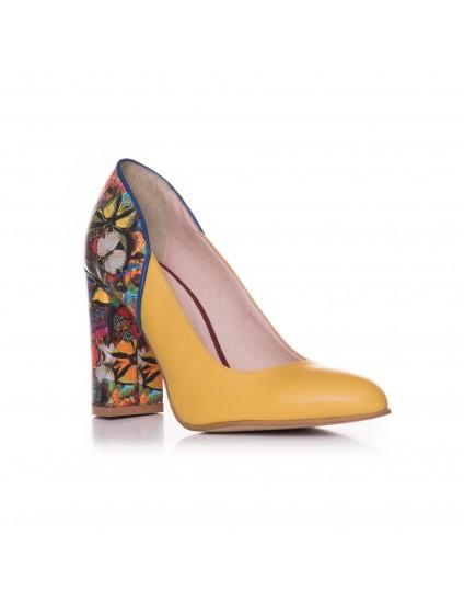 Pantofi Piele Galben Fluturas T41  - orice culoare