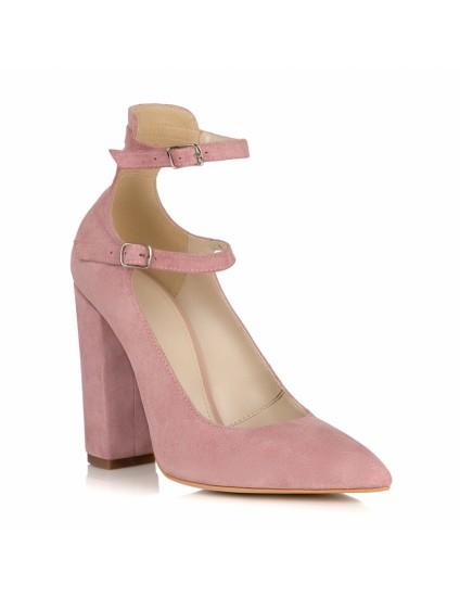 Pantofi Piele Roz Pudra Dolly L14 - orice culoare