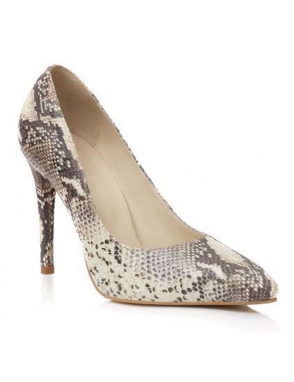 Pantofi Piele Tip Sarpe Estela - Orice Culoare