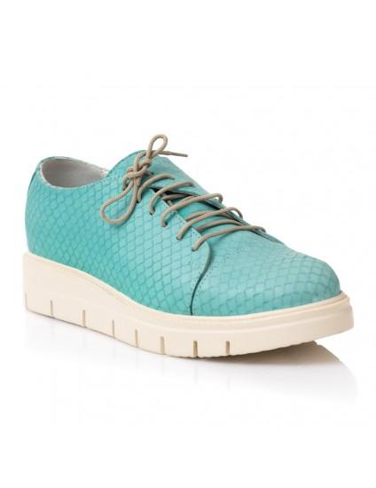 Pantofi Piele Oxford Turcoaz Snake E1   - orice culoare