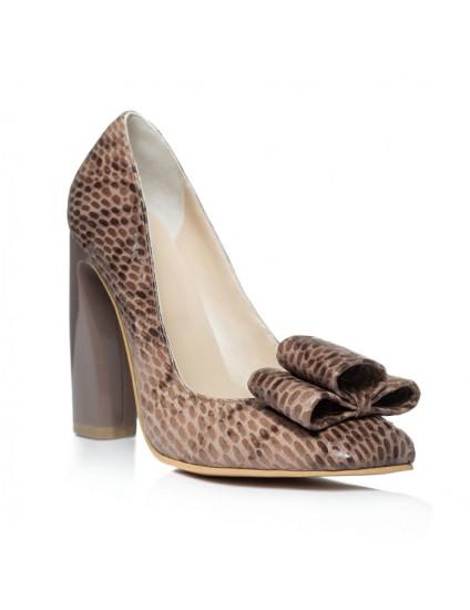 Pantofi piele Chic Madame Crook Snake - disponibili pe orice culoare