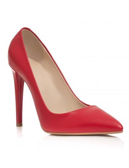 Pantofi Stiletto Piele Rosu Very Chic  - disponibili pe orice culoare