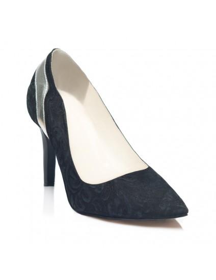 Pantofi Stiletto  Piele Model Negru C7  - orice culoare