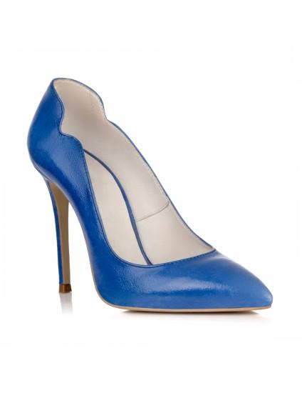 Pantofi Stiletto Albastru Electric Anabel L17- pe stoc