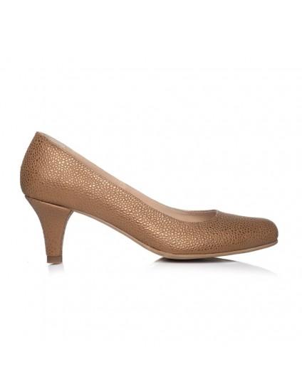 Pantofi Dama Auriu Toc Mic I1 - orice culoare