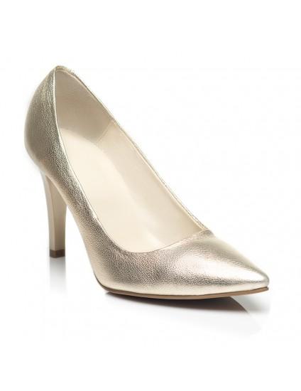 Pantofi Stiletto  Piele Auriu C8  - orice culoare