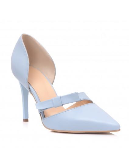 Pantofi Dama Piele Bleu Erika C51 - Orice Culoare
