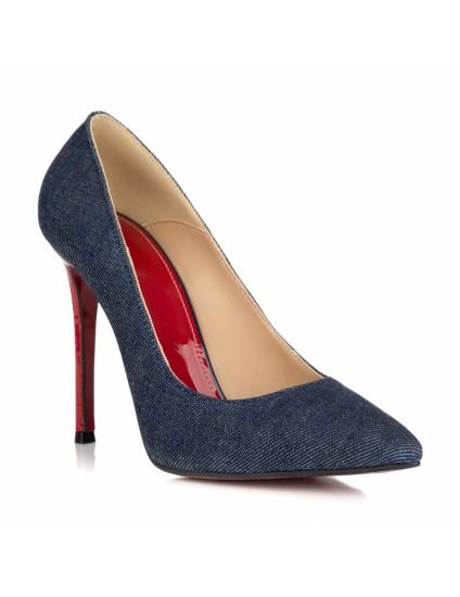 Pantofi Stileto Material Denim L18 - orice culoare
