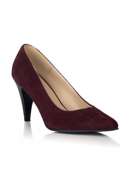 Pantofi Stiletto Piele Bordo Toc Mic V30 - orice culoare