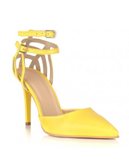 Pantofi Stileto Piele Galben Armina C41- orice culoare