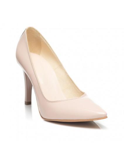 Pantofi Stiletto  Lac Nude C9  - orice culoare
