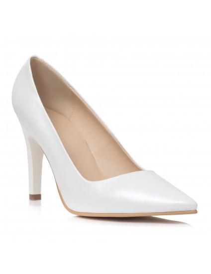Pantofi Stiletto  Piele Alb C8  - orice culoare