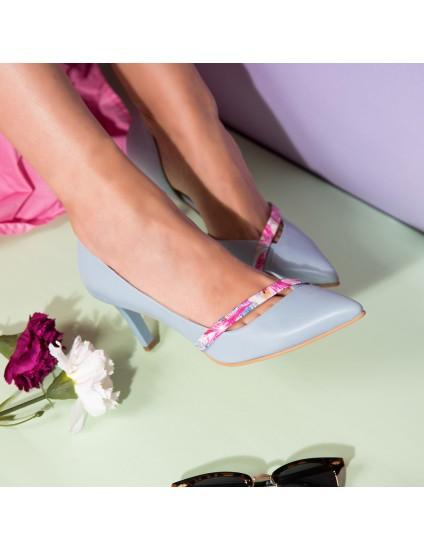 Pantofi Stiletto Piele Bleu Alda C52 - orice culoare