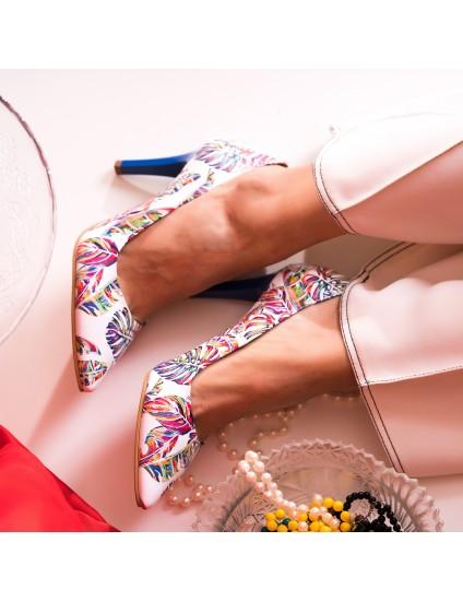 Pantofi Stiletto Piele Color Frunze C8 - Orice Culoare - orice culoare