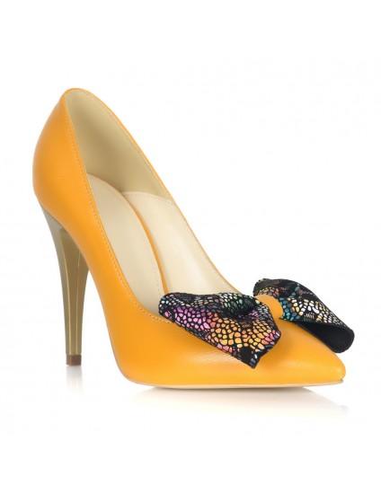 Pantofi Stiletto Piele Galben Funda Multicolora L33 - orice culoare