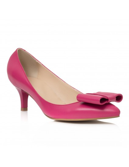 Pantofi Mini Stiletto Funda Piele LAC Roz C62- pe stoc