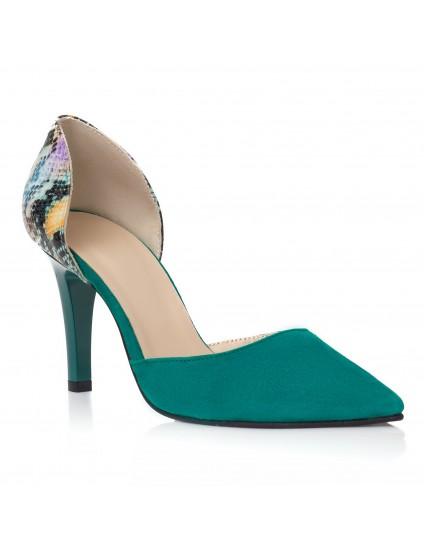 Pantofi Stiletto Piele Turcoaz Lolita C35 - orice culoare