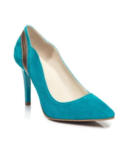 Pantofi Stiletto  Piele Model Turcoaz C7 - orice culoare
