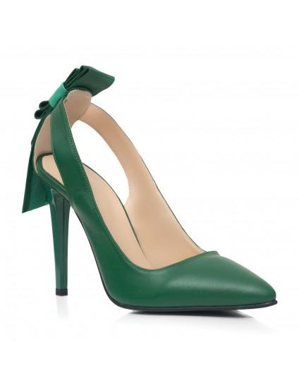Pantofi Stiletto Ria C15 Piele Verde  - orice culoare