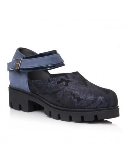 Pantofi Tip Gheata Albastru/Argintiu Helen V26 - Orice Culoare