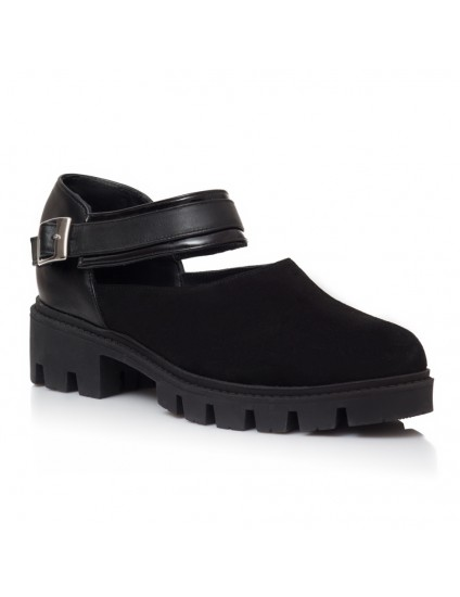 Pantofi Tip Gheata Piele Negru Helen V26 - Orice Culoare
