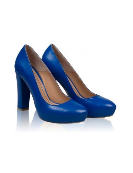 Pantofi Fogo piele naturala, orice culoare-albastru