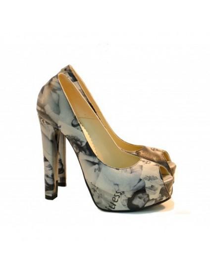 Pantofi Piele naturala Fashion  - Imprimeu Revista