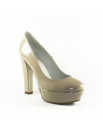 Pantofi piele lacuita  Livi  Nude  - orice culoarea
