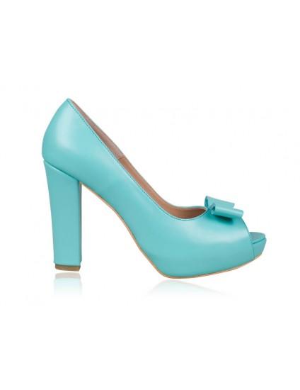 Pantofi dama piele bleu N7  - orice  culoare