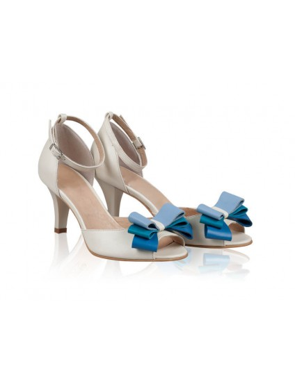 Sandale dama piele N1 cu fundita - orice culoare