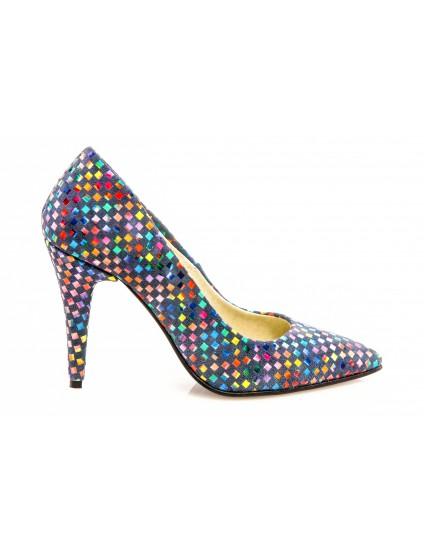 Pantofi Mini Stiletto Piele Mozaic