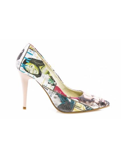 Pantofi Mini Stiletto Piele Revista