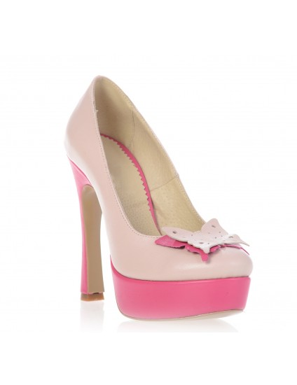 Pantofi piele Glam Butterfly -  pe stoc