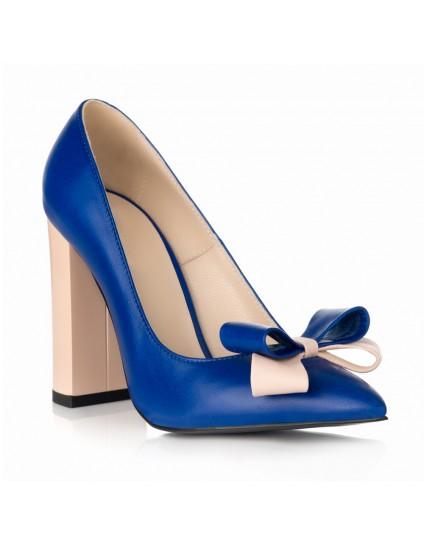 Pantofi Stiletto Toc Gros Albastru S1 - orice culoare