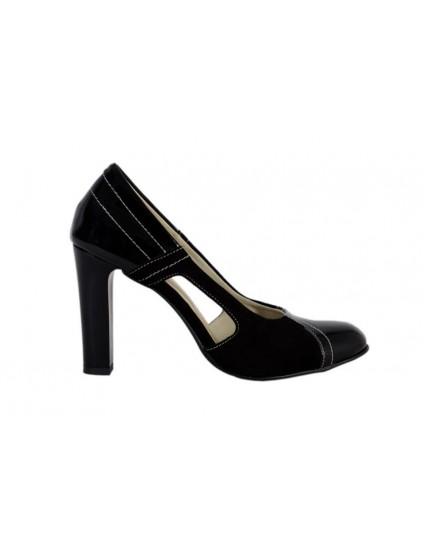 Pantofi piele naturala Cuty, disponibili pe orice culoare-black