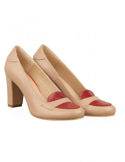 Pantofi din piele naturala N52 - orice culoare