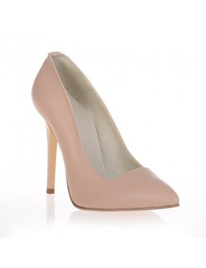 Pantofi Stiletto Very Chic  Nude piele naturala  - disponibili pe orice culoare