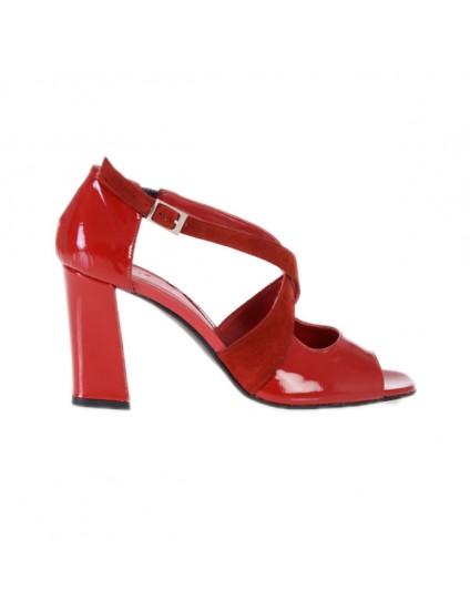 Sandale piele naturala Moni Rosu - Orice culoare
