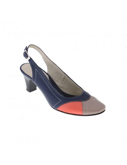 Pantofi piele naturala Madame1 decupat, disponibili pe orice culoare