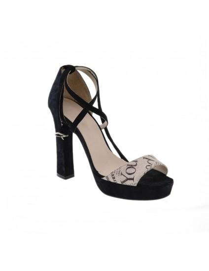 Sandale piele naturala Clara Negru  -  Orice culoare